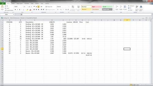 Excel_cutting_list