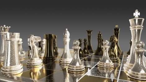 Old Steel and Brass Chess