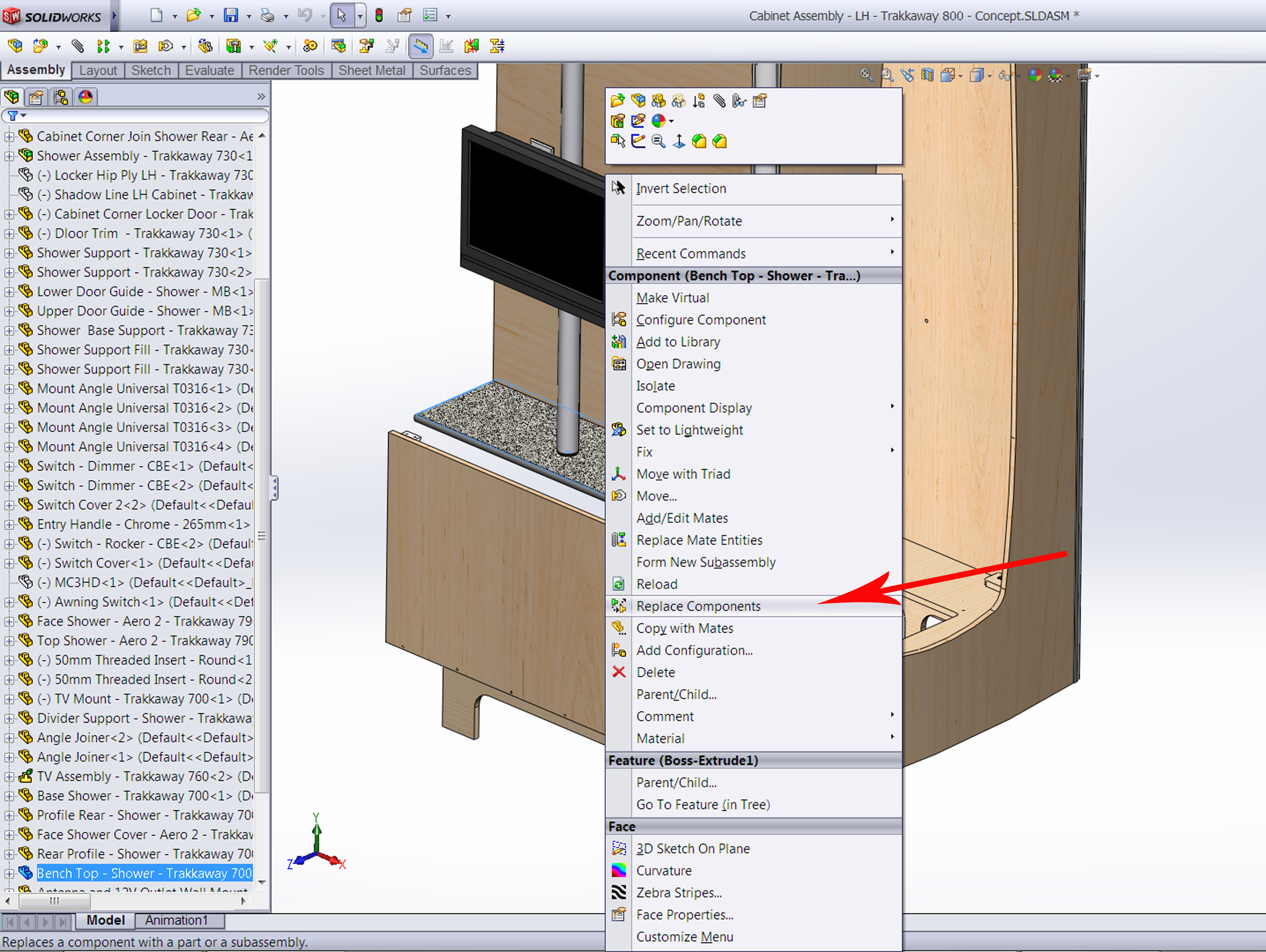 Replace Components (with another Component!) #Solidworks | Michael Lord