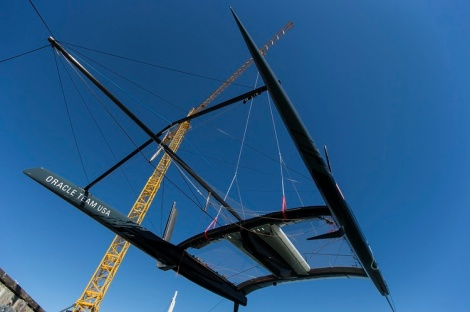 AC72 Wing step test / ORACLE TEAM USA / San Francisco (USA) / 29-08-2012