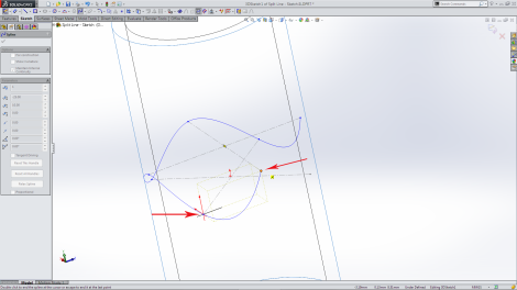 Spline on Surface - Sketching