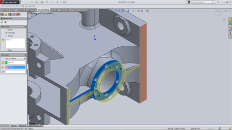 Move Face Parameters Up to Surface Flange