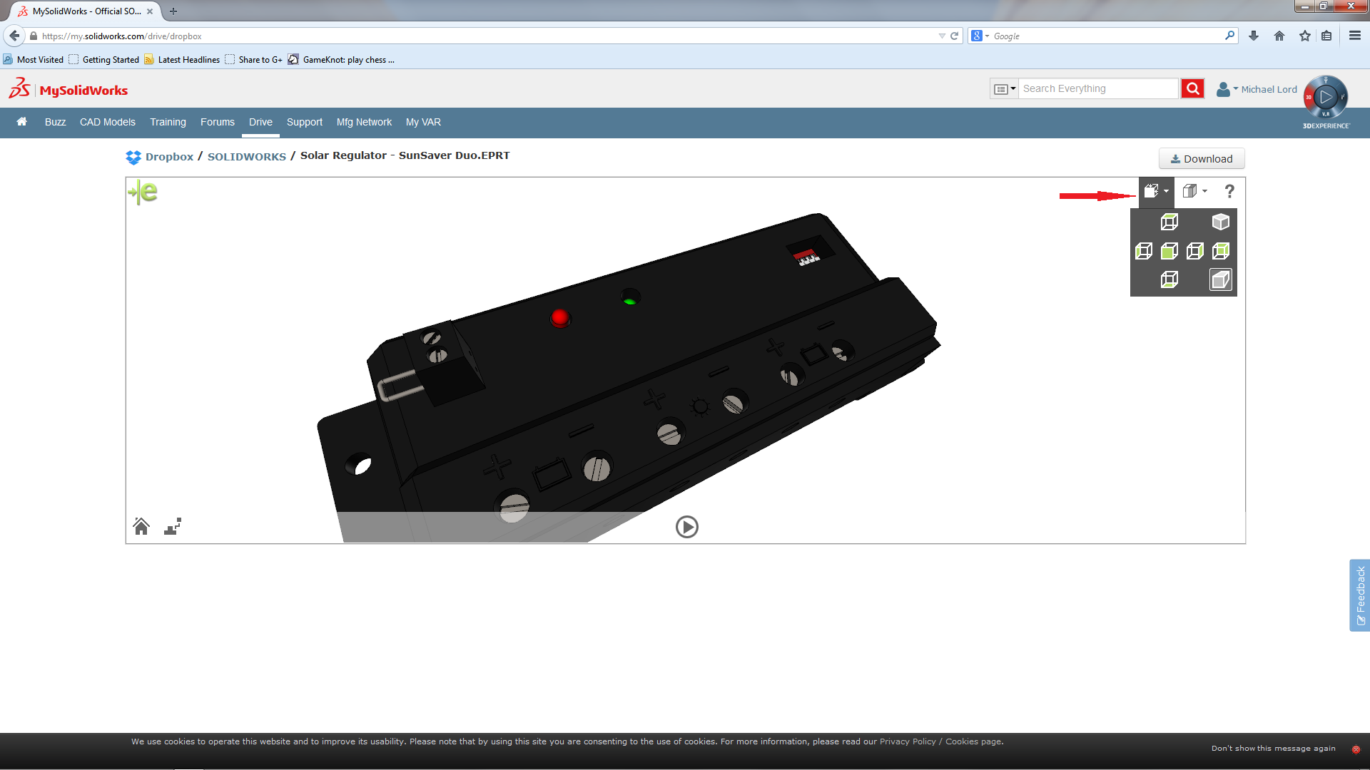 My SolidWorks Drive Incorporates eDrawings – Dropbox