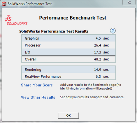 4 - IC3D SolidWorks  Benchmark