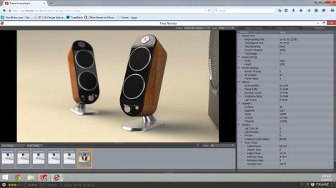 Speaker Render Test - Frame
