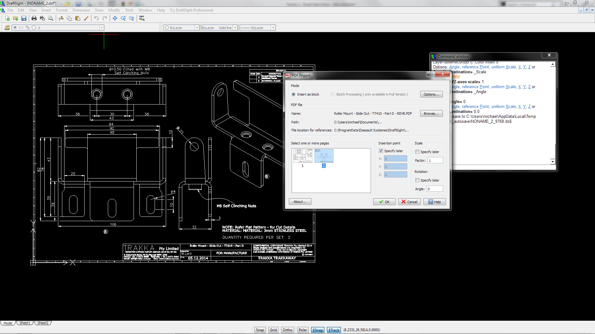 PDF Import for DraftSight – Graebert #draftsight #solidworks