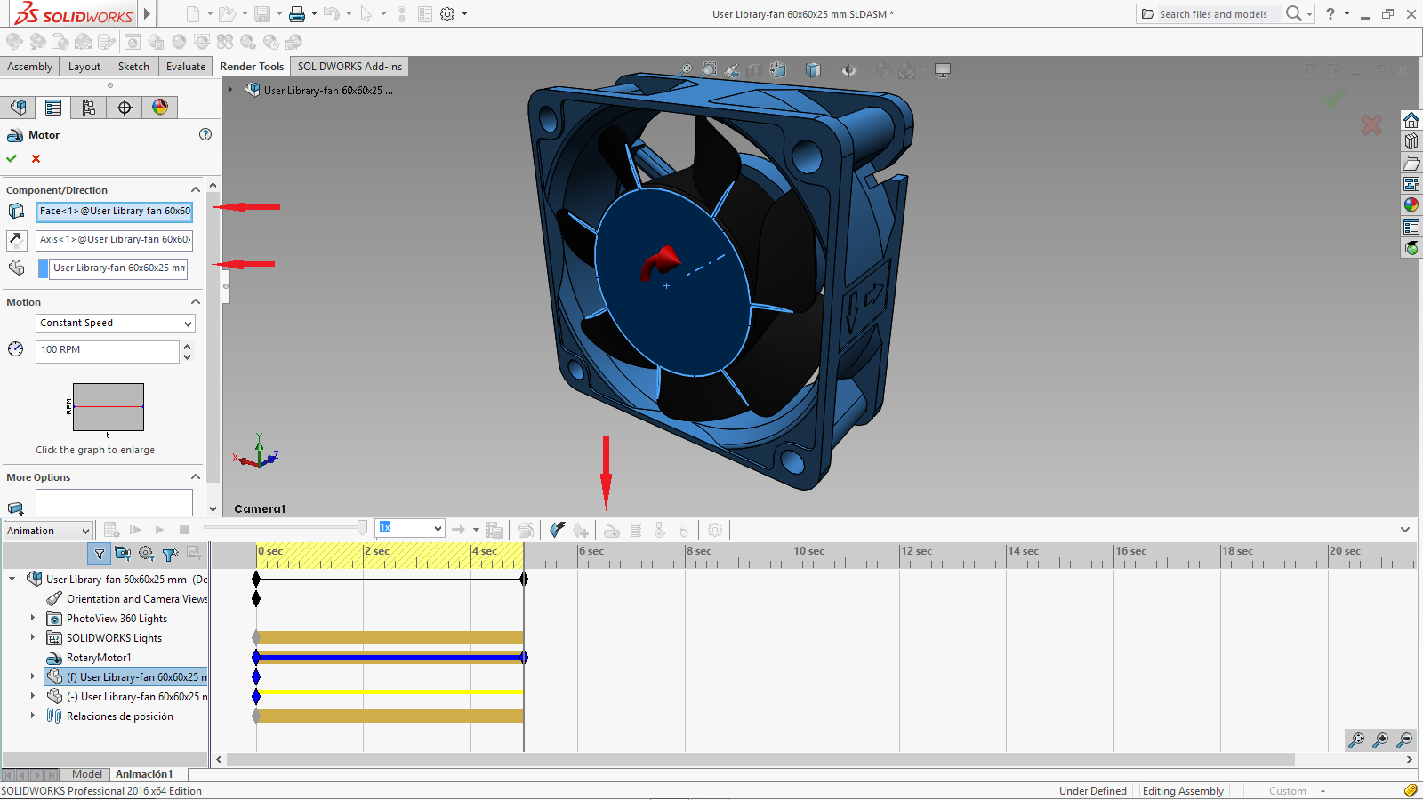 Solidworks animation motor impremedia with the selection of save animation and the choice of renderer set to photoview baditri Image collections