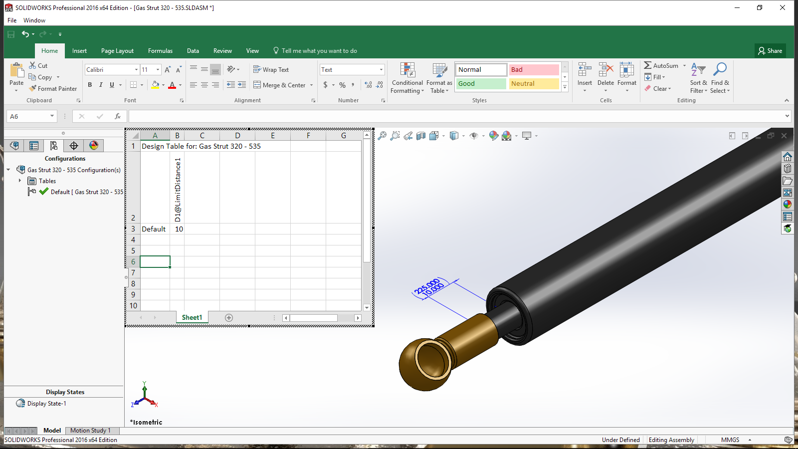 When only a design table will do solidworks michael lord for Design table not working solidworks