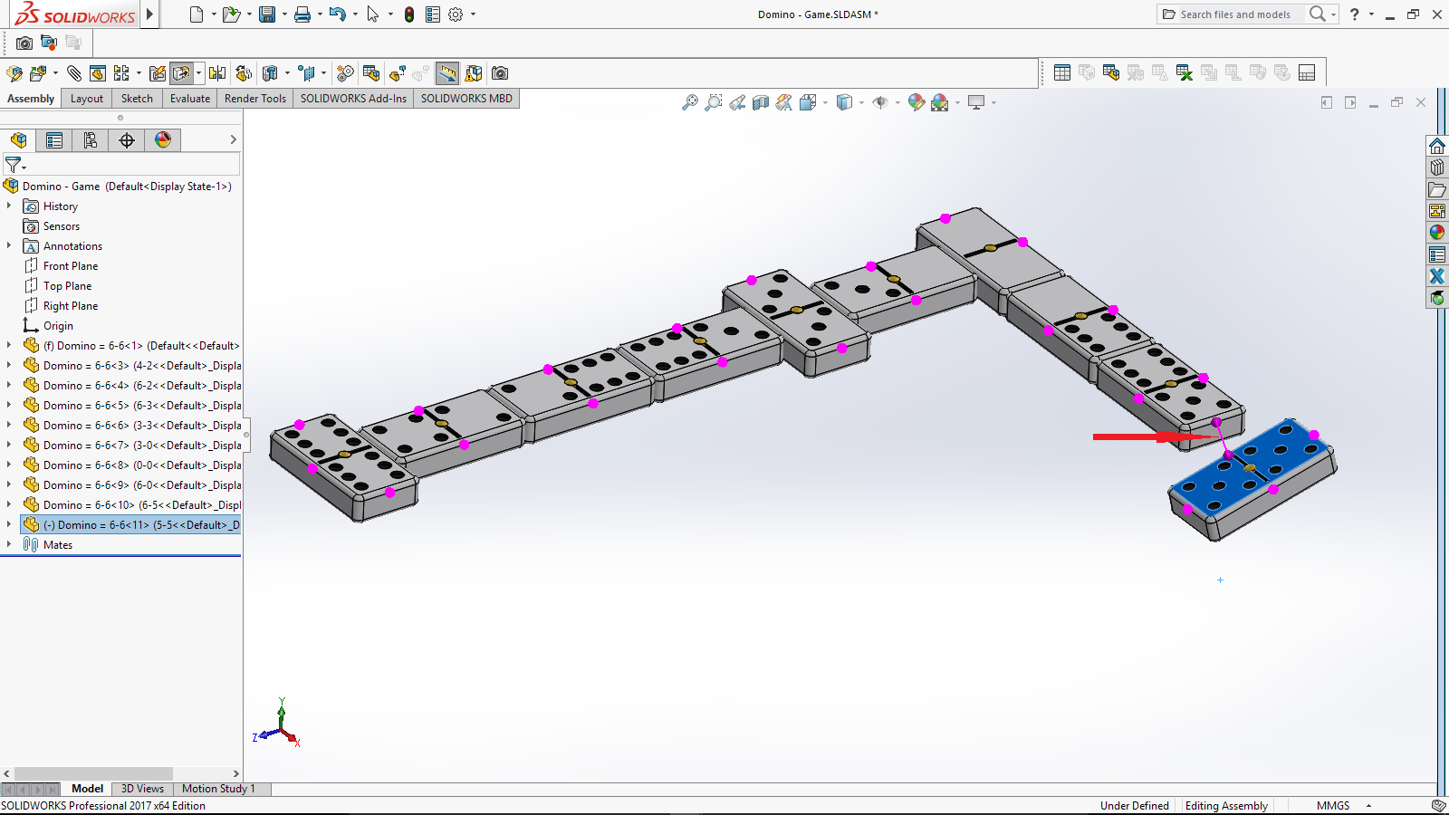 how to use hinge mate in solidworks