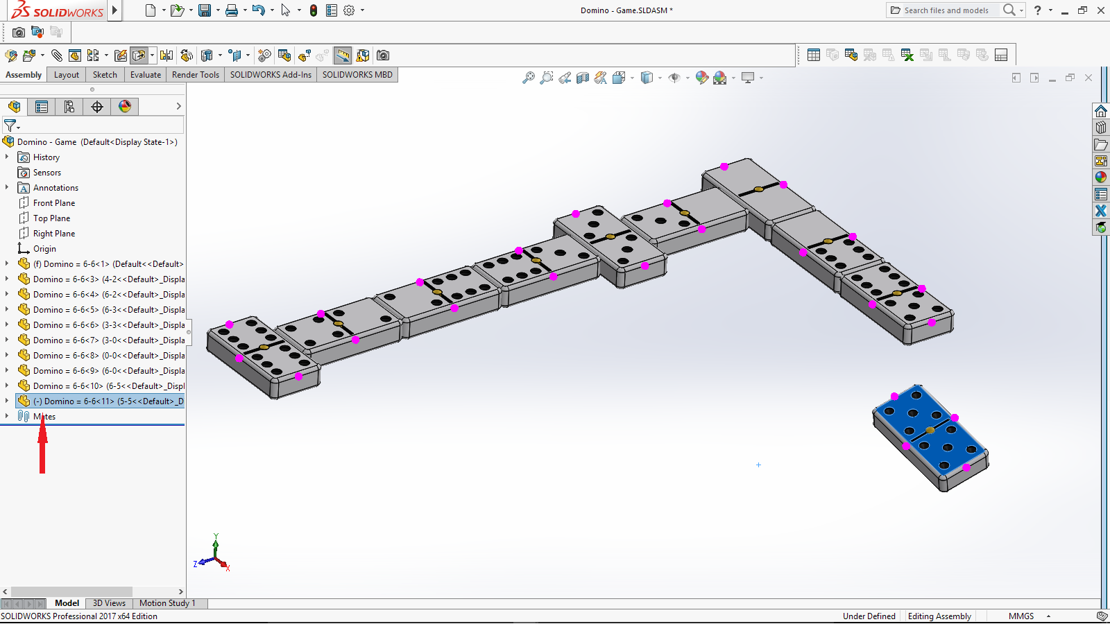 SOLIDWORKS 2017 – Assemblies – Magnetic Mates, Group