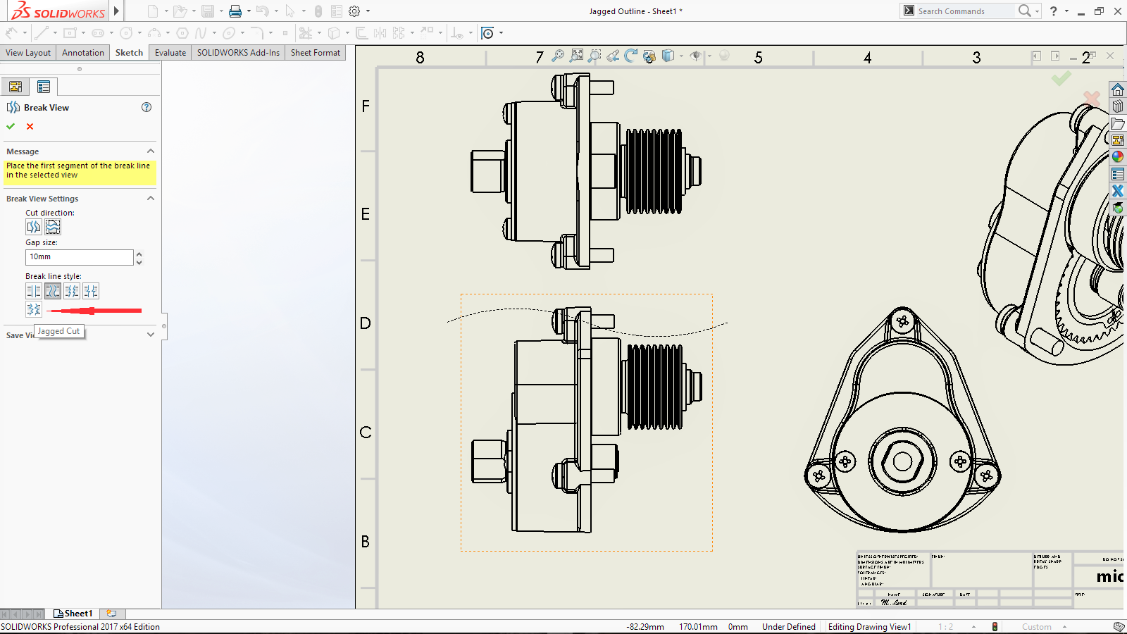 SOLIDWORKS 2017 – Making your Drawings Look Nicer! – Drawing