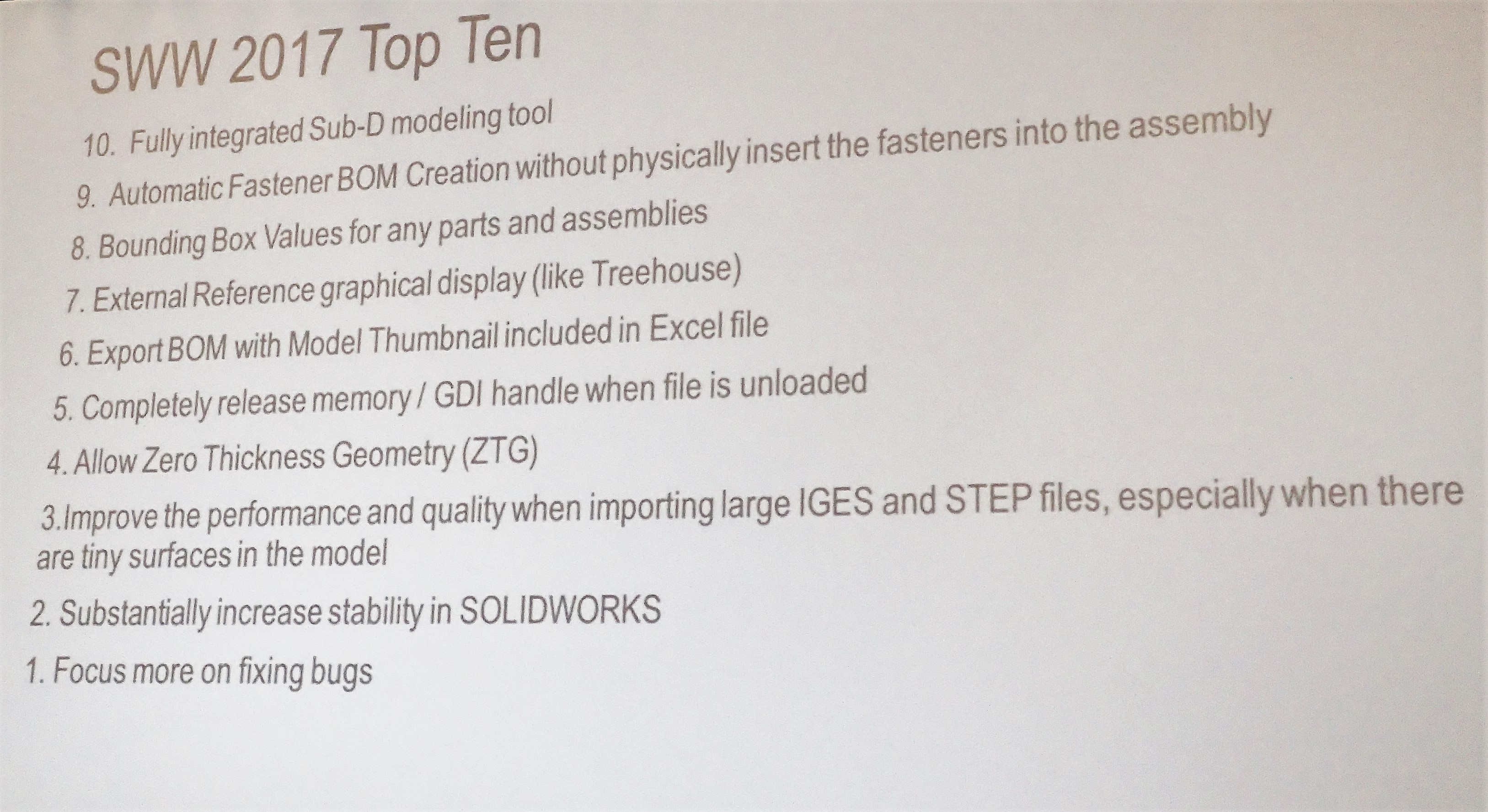 What do YOU want from SOLIDWORKS 2018 & beyond! – SOLIDWORKS