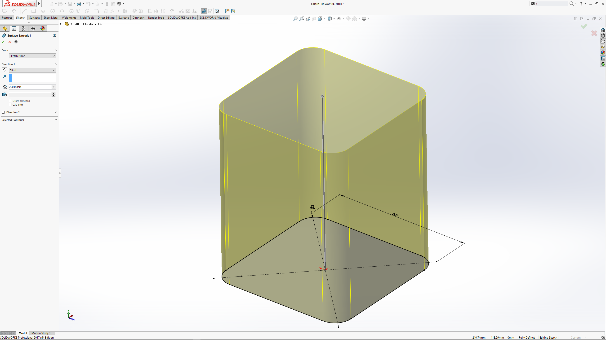 SOLIDWORKS – Fun with Helix's and Sweep's #SOLIDWORKS
