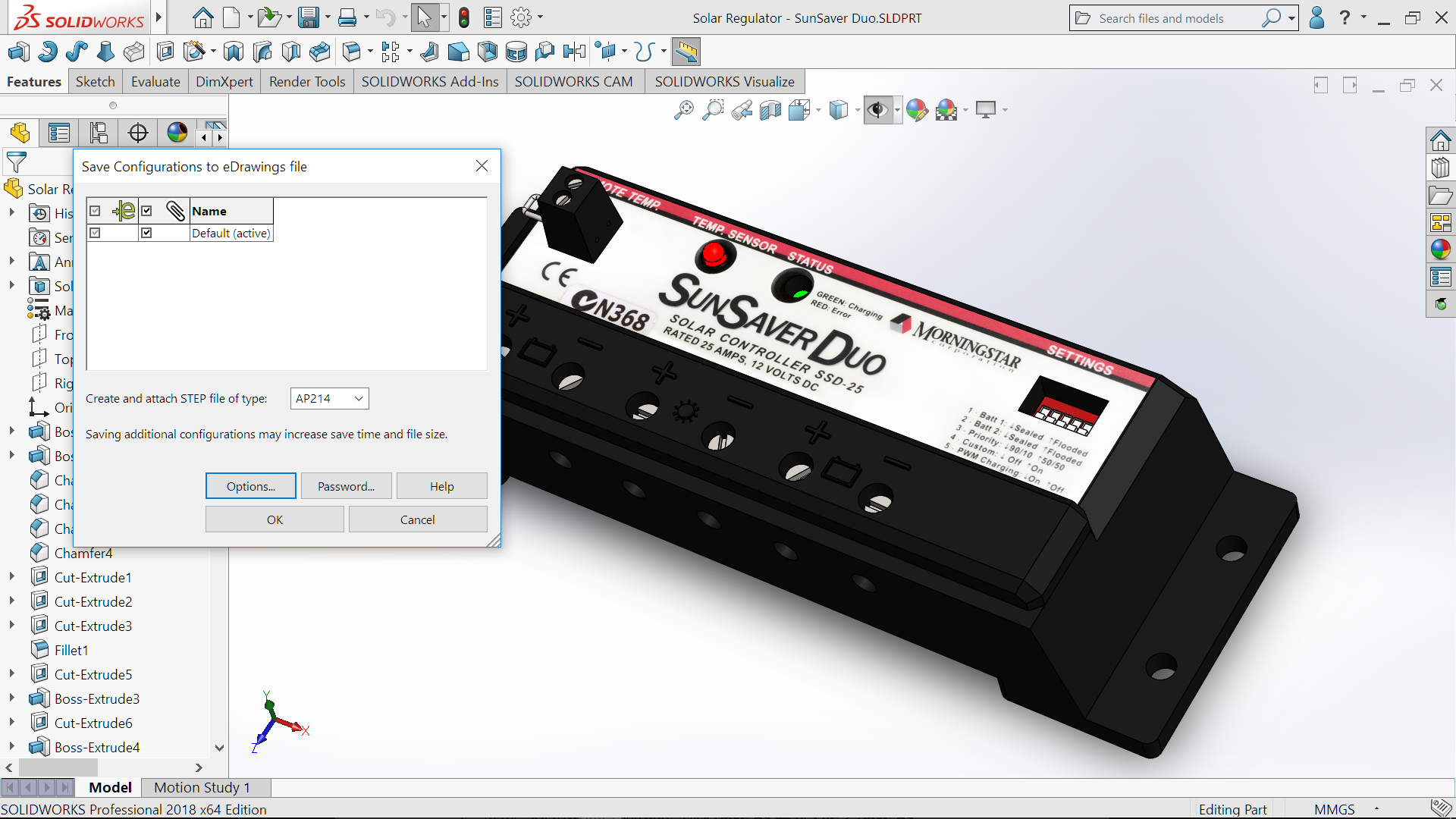SOLIDWORKS 2018 – STEP & Decals for eDrawings #SOLIDWORKS #SW2018