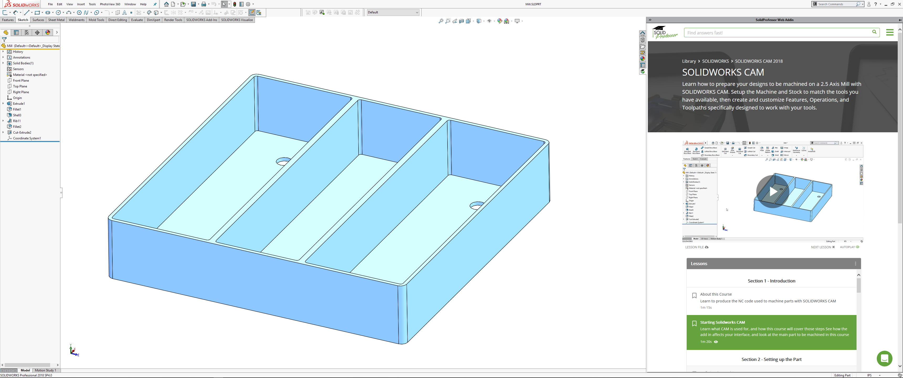 SolidProfessor – Now with SOLIDWORKS CAM & So Much More